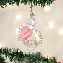 Old World Christmas Mexican Seashell Nautical Glass Christmas Ornament 12177 - $12.88