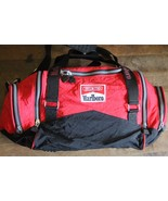 Vintage 90's Marlboro Unlimited Nylon Duffle Bag Travel Gym Carry On Red - $29.99