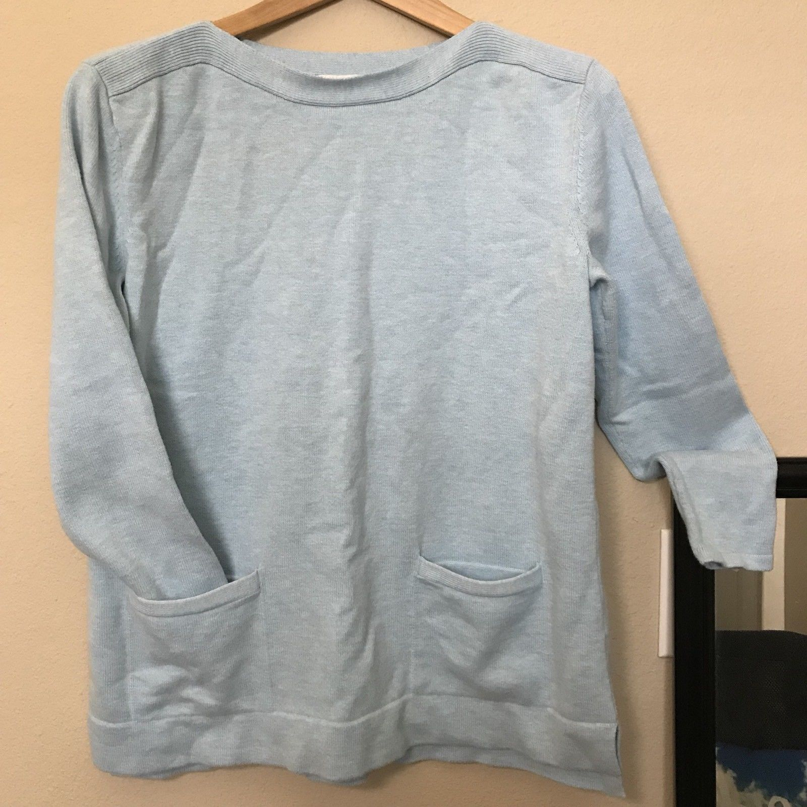 e37851f92e J. Jill Marled Blue Cotton Wool Blend Pocket and 50 similar items