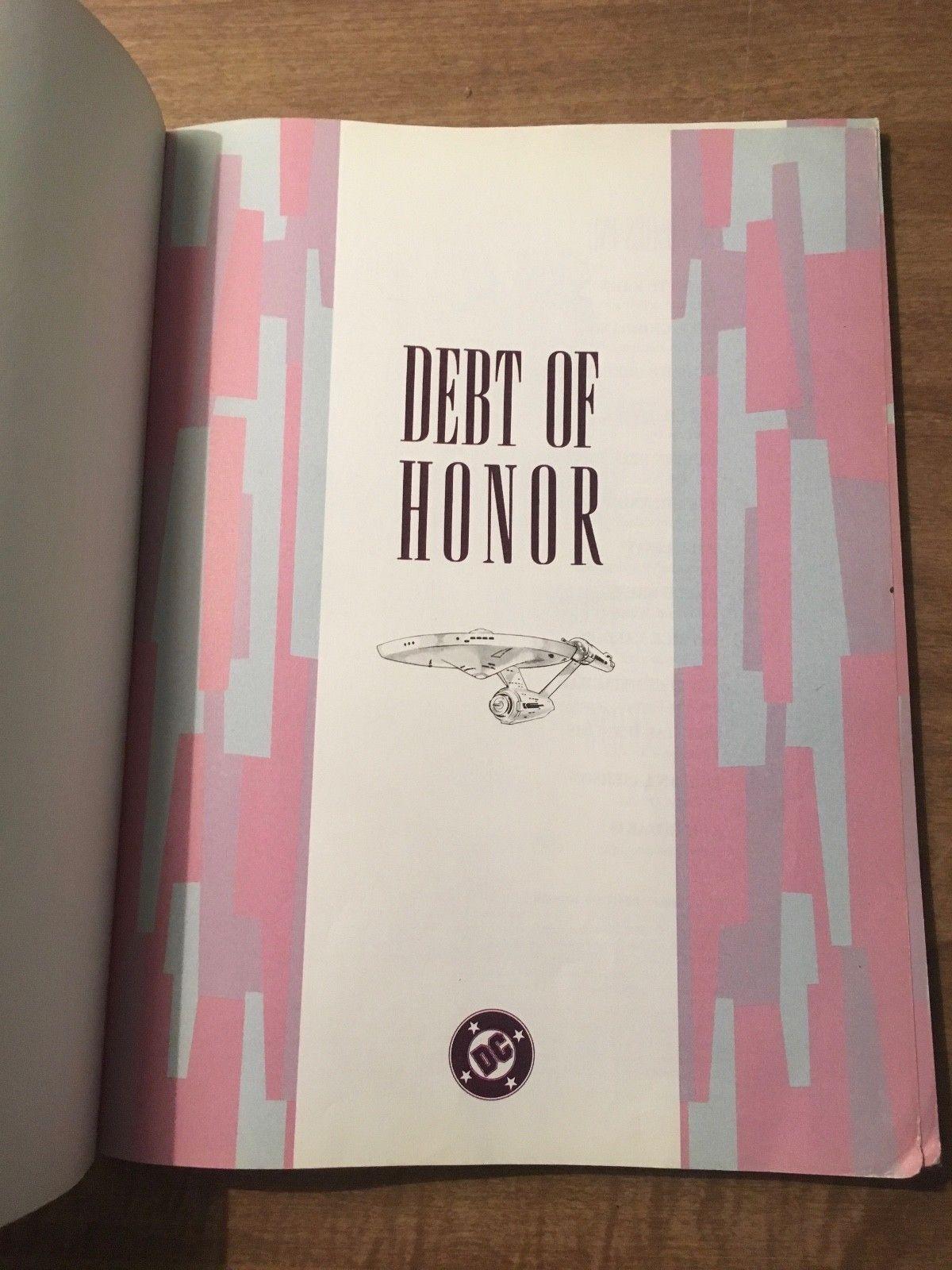 Star Trek: Debt of Honor Paperback Comic Book (1992, PB) image 3