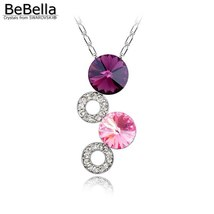 BeBella fantasy bubble pendant necklace Made with Crystals from Swarovski for wo image 2