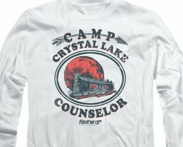 Friday the 13th Jason Camp Crystal Lake Counselor Horror Long Sleeve Tee WBM622 image 2