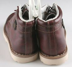 OshKosh B'Gosh Toddler Burgundy Brayan Wingtip Fashion Boots Shoes NEW image 4