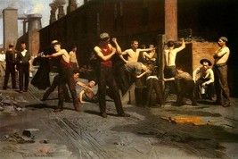 The Ironworkers Noontime Industry America 1880 Painting By Thomas Anshutz Repro - $10.96+