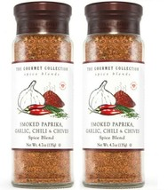 2 X The Gourmet Collection Smoked Paprika Garlic Chili & Chives Spice 4.... - $29.69