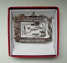 Kansas Brass Ornament Sunflower State  - $14.95