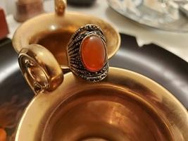 ~ Random Jerusalem ~ Haunted Ring Of Orange Fire Gold ~ Djinn / Genie / Jinn - $1,459.00