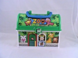Fisher Price Little People On The Go ZOO JUNGLE Play Carrier Lunch Box Rare - $19.57
