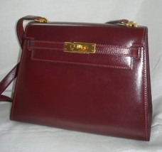 XLT Auth HERMES Rouge H Veau Box 20 cm Mini Shoulder Kelly Sellier GHW Rare - $9,799.99