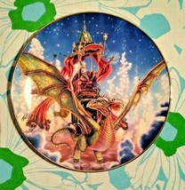 "The Franklin Mint Myles Pinkney ""DRAGON FLIGHT"" RA9734 Collector Plate - $27.72"