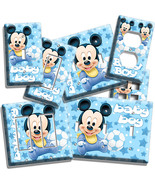 BABY MICKEY MOUSE NURSERY LIGHT SWITCH OUTLET PLATES INFANT NEWBORN BOYS... - $8.09+