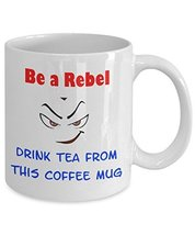 Be a Rebel White Ceramic Novelty Coffee Mug With Funny Face (11oz) - $14.65