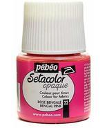 Pebeo Setacolor Opaque Fabric Paint (Bengal Pink) 2 pcs sku# 1849361MA - $29.91