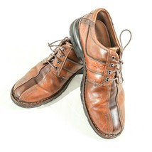 Clarks Touareg Brown Leather Bicycle Toe Oxfords Lace Up Shoes Men 10.5 SN 70852 - $34.49