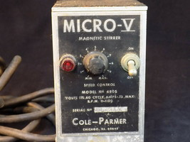 LABORATORY MAGNETIC STIRRER MICRO V Model 4805 COLE PARMER Powers on unt... - $49.49