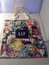 GAP Tote Bag Graphic Front Logo Cotton Muslim Back New in Package - $9.99