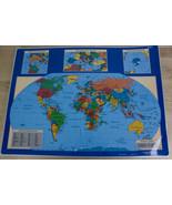 George F. Cram Laminated Place-Mats USA World Maps Qty. 21 Educational S... - $39.99