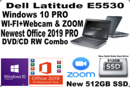 """Dell Latitude 15.6"""" E5530✅Win10 Laptop✅Webcam/ZOOM_i5✅New 512GB SSD+Offi... - $337.58"""