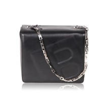 Authentic BALLY Black Leather BOX SHOULDER BAG w/ Embossed B LETTER - $118.80