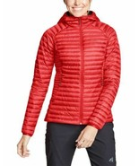 Eddie Bauer Women's MicroTherm 2.0 Down Hooded Jacket, Pimento - $249.00