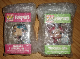 New Funko Pocket Pop Keychain Fornite Sparkle Specialist and Tricera Ops... - $19.35