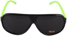 NEW Quay Eyeware Australia 1435 Shiny Black Neon Green Smoke 100% UV Sunglasses image 2