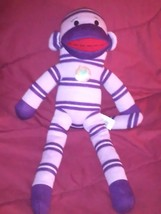 Dan Dee collector's Choice 19 inch plush sock monkey with Earth right fibers - $8.50