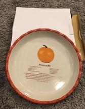 Pumpkin Pie Porcelain Dish Orange New Gift Recipe Bakeware Kitchen Decor - ₹1,737.26 INR