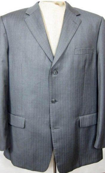 NEW  Tasso Elba Gray Stripe 4Seas Wool Sport Coat 46L - $41.78