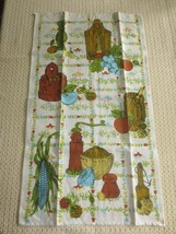 Vintage EARLY AMERICAN MOTIF LINEN Kitchen TOWEL - Unused - $7.92