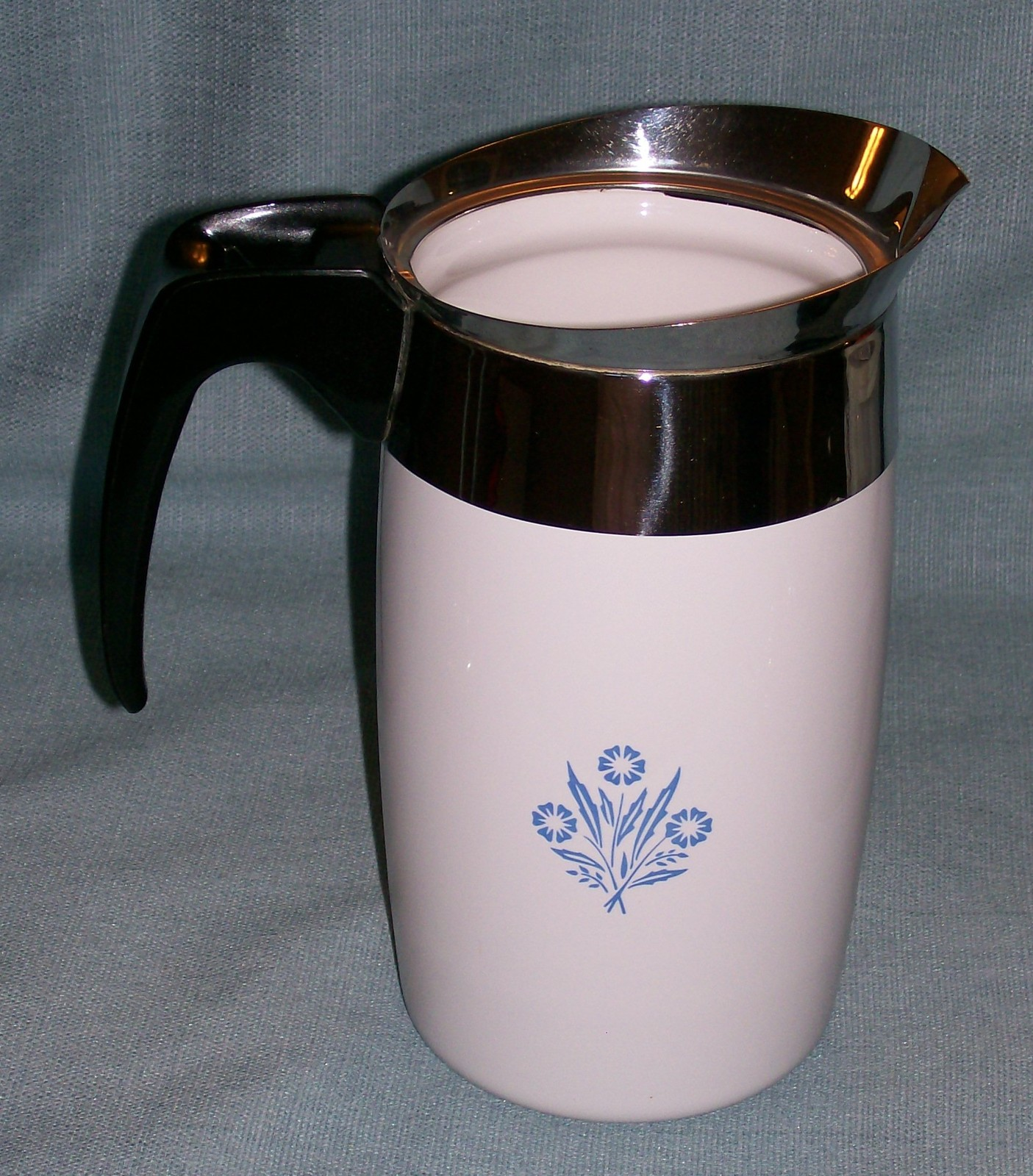 Corning Ware BLUE CORNFLOWER Electric Coffee Pot/Percolator 6 cup P-6-EP VGVC  image 2