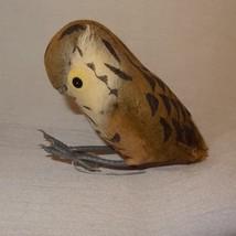 Vintage Owl Mini Artificial Foam Feather Bird Brown Felt Decor - $5.99