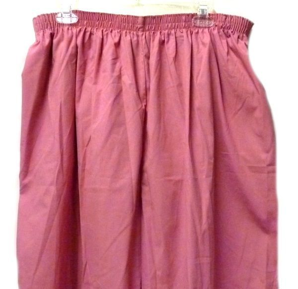 P.R.N 1067 Elastic Waist Uniform 5XL Geranium Pink Scrub Pants Bottom New