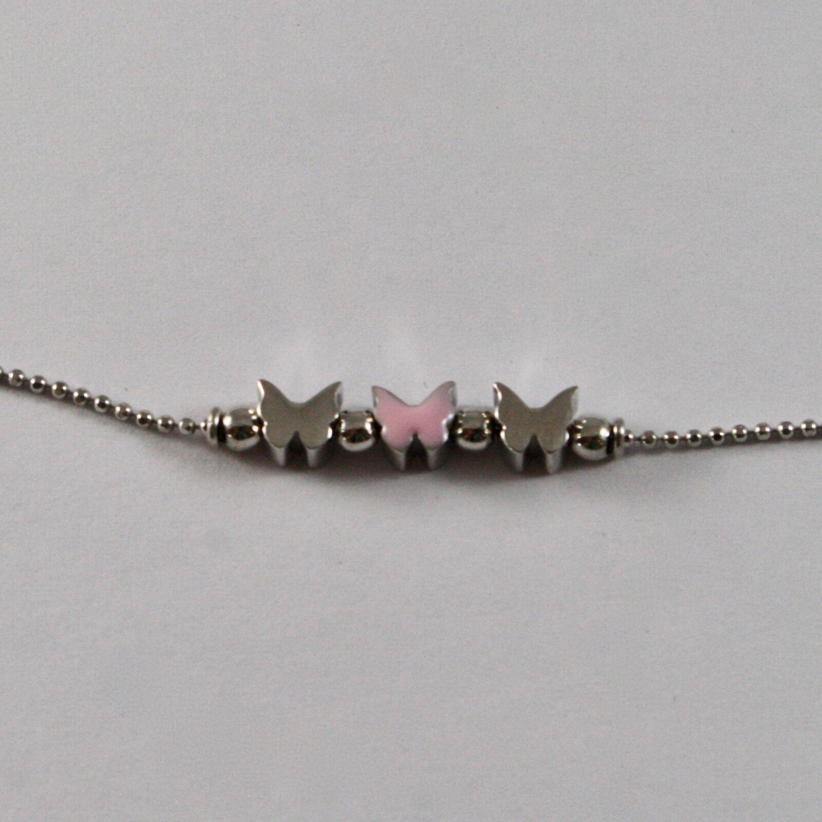 Silver Bracelet 925 Jack&co Butterflies Stylized Balls Faceted JCB0902 image 4