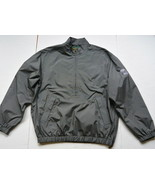 Bobby Jones Golf Rain Jacket L Plaid Checked Black 1/2 ZipTurnberry Scot... - $35.95