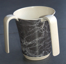 Netilat Yadayim Natla Hand Washing Cup Mock Marble Gray Black Plastic Judaica image 7