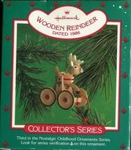 1986 - New in Box - Hallmark Christmas Keepsake Ornament - Wooden Reindeer - $3.95