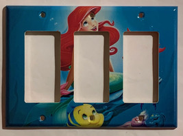 Ariel Flounder & Sebastian Light Switch Power Outlet wall Cover Plate Home decor image 7