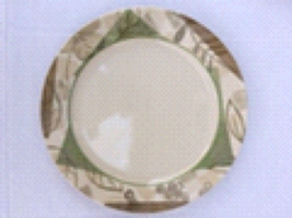"""Corelle Lot of 2 Textured Leaves Dinner Plates 10 1/4"""" - $16.99"""