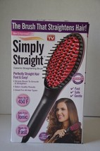 Simply Straight Professional Ceramic Straightening Brush 450 degrees Fas... - $9.89