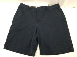 IZOD Saltwater Mens Shorts Navy Blue Flat Front Size 40x10.5 Casual 100%... - $21.76