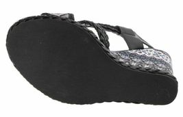 Not Rated Monaco Tribal Native American Print Braided Wedge Open Toed Sandal 8.5 image 7