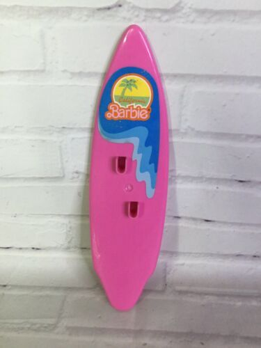 Primary image for Vintage 80s Mattel California Dream Barbie Surf N Shop Accessory Pink Surfboard
