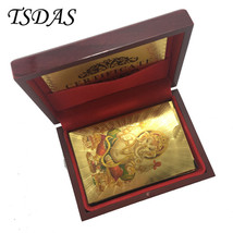 Colorful India God Gold Foil Poker Cards 24k Gold Playing Cards With Woo... - $15.00