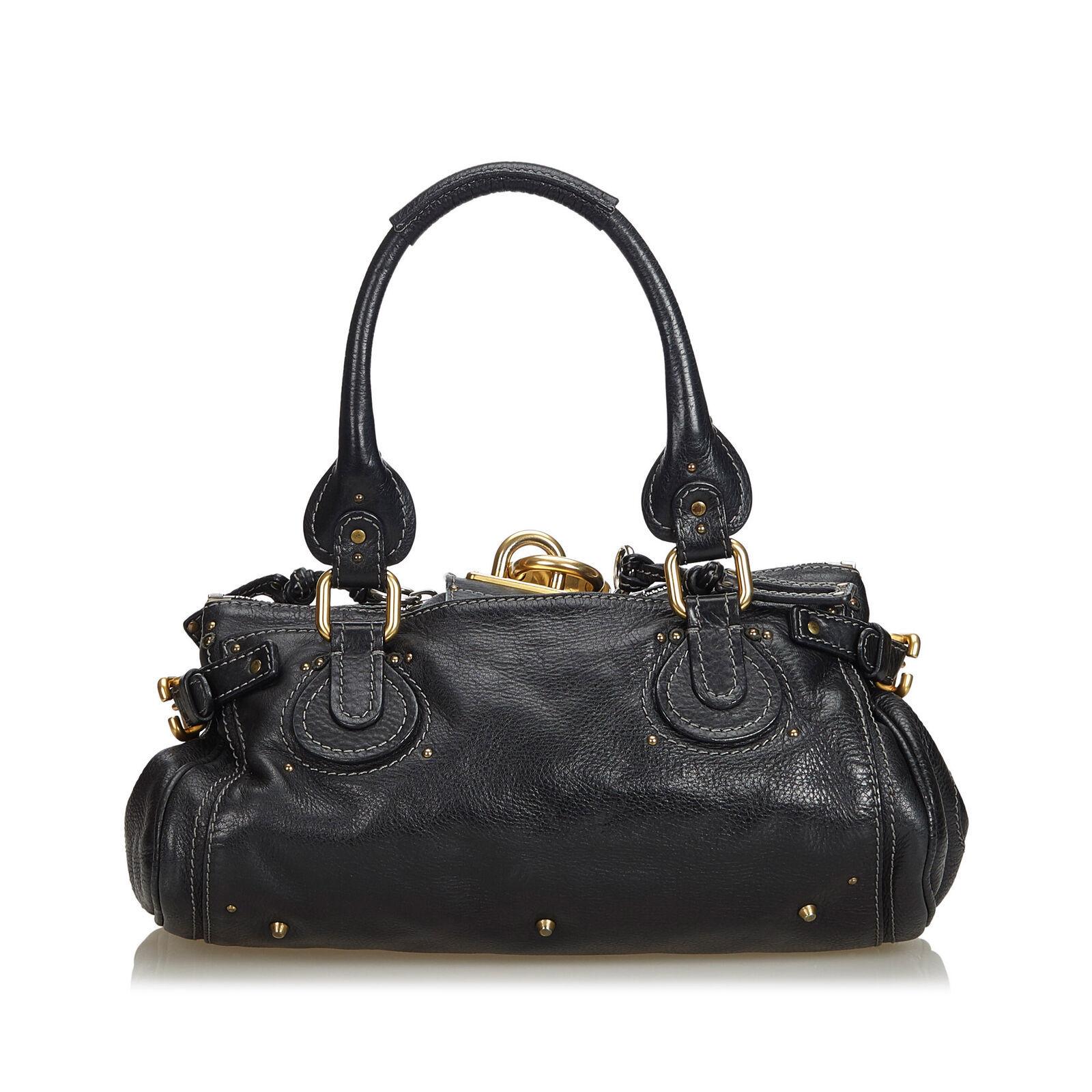 Pre-Loved Chloe Black Others Leather Paddington Handbag France