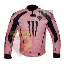 DAINESE 1010 PINK WATERPROOF COWHIDE LEATHER MOTORBIKE MOTORCYCLE ARMOR ... - $289.99