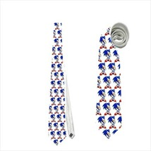 Necktie sonic pixel gamer geek tie pixelated fashion  - $22.00