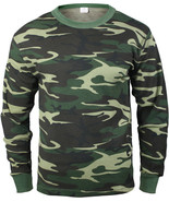 Woodland Camouflage Cold Weather Thermals Knit Underwear Shirt Top Long ... - $16.99+