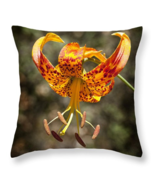 Wild Tiger Lily, Throw Pillow, fine art, seat cushion, accent, wild flowers - $41.99+