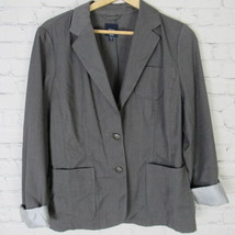 Gap Jacket Blazer Womens 12 Gray C24 - $27.88